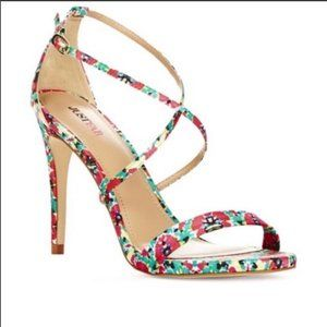 JustFab | New Synclaire Floral Heels 7.5